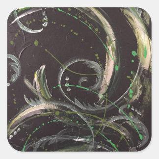 「Greenを感じることの抽象的なギフト用包装紙 スクエアシール