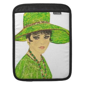 Green鮮やかな女性 iPadスリーブ