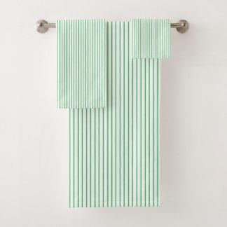 Green and White Pinstripe バスタオルセット