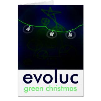green-christmas.jpg 2のevoluc、緑のクリスマス カード