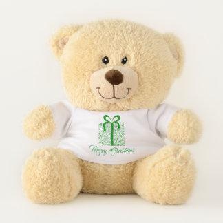 Green Christmas Music Notes Gift Holiday Bear テディベア