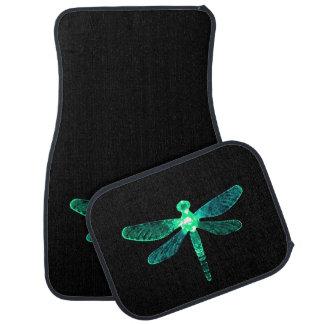 Green Dragonfly Car Mats カーマット