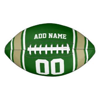 Green|Goldのフットボールジャージーは縞で飾ります アメリカンフットボール
