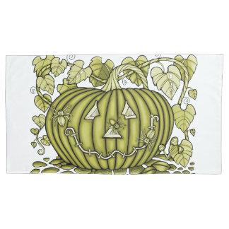 Green-Gold Spidery Pumpkin 枕カバー