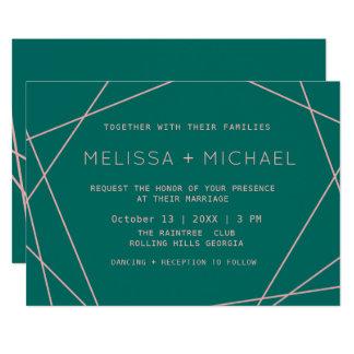 Green Modern Minimalist Wedding カード