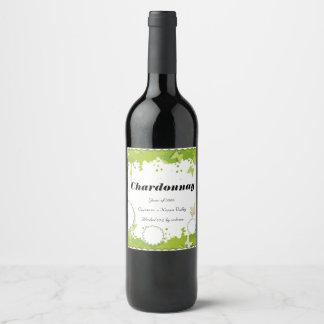 Green Nature personalized wine bottle label ワインラベル