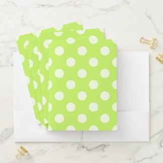 Green Polka Dot Pocket Folder ポケットフォルダー