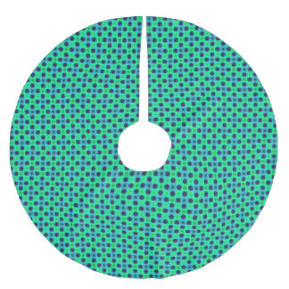 Green Purple Blue Geometric Abstract ブラッシュドポリエステルツリースカート