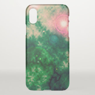 Green Space Diffuse Nebula and Supernova iPhone X ケース