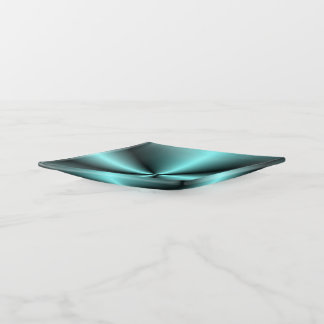 Green Teal with Glow effect> Square Trinket Tray トリンケットトレー