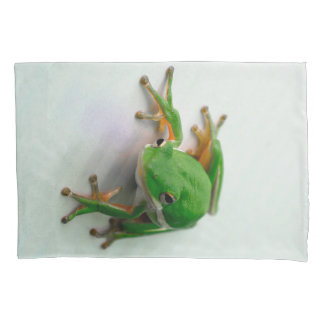 Green Tree Frog Pillow Cases 枕カバー