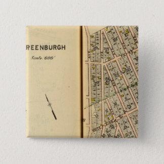 Greenburg、ニューヨーク12 5.1cm 正方形バッジ