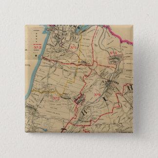 Greenburg、ニューヨーク14 5.1cm 正方形バッジ