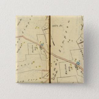 Greenburg、ニューヨーク2 5.1cm 正方形バッジ
