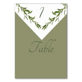 Greenery elegant  geometrical leaves branch カード