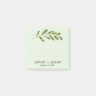 Greenery Leaves Modern Wedding Notes ポストイット