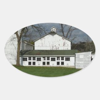 Greenmeadの農場 楕円形シール
