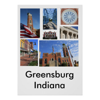Greensburgインディアナポスター ポスター