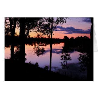 GreetingCard: 湖によるたそがれ カード
