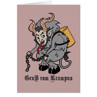 Greetings from Krampus in Grey カード
