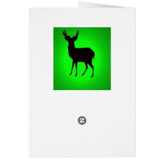 greetngsカードの緑の背景のシカ カード