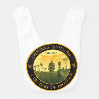 Grenoraの百年間の公式のロゴのベビー用ビブ ベビービブ