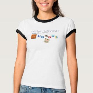 Gretchenの後部のデザインのロゴのTシャツ Tシャツ