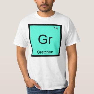 Gretchen一流化学要素の周期表 Tシャツ