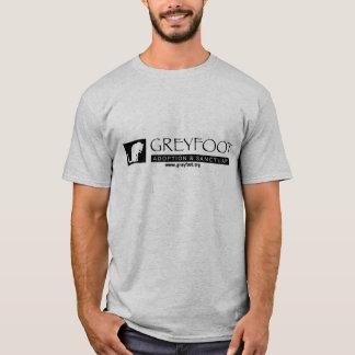 Greyfoot猫の救助のロゴの人のワイシャツ Tシャツ