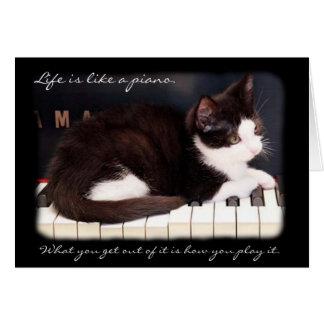 Greyfoot猫の救助の生命はピアノカードです カード