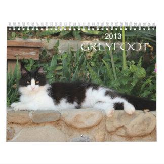 Greyfoot猫の救助2013のカレンダー カレンダー