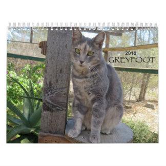Greyfoot猫の救助2018のカレンダー カレンダー