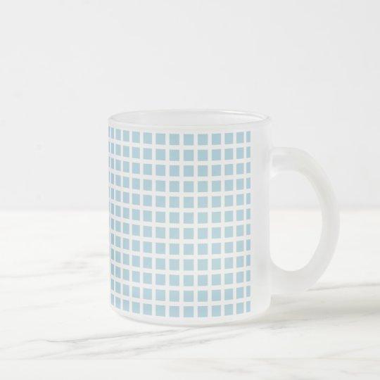 GRID : pastel blue フロストグラスマグカップ