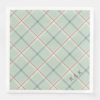 Griffith Family Tartan Plaid Check in Sage Green