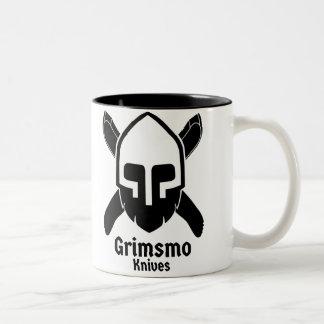 Grimsmoのナイフのコーヒーカップ! ツートーンマグカップ