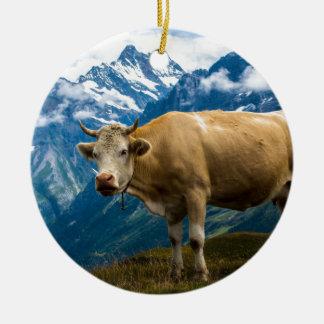 Grindelwald牛- Berneseのアルプス-スイス連邦共和国 セラミックオーナメント
