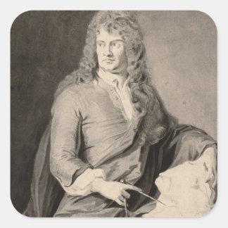 Grinlingギボンズ(1648-1721年)のポートレート(w/c pで スクエアシール