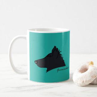 Groenendael Kopf Silhouette コーヒーマグカップ