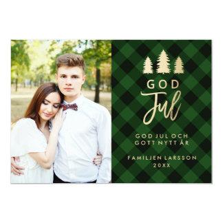 Grön Plädの神Julkort 7月|日 カード