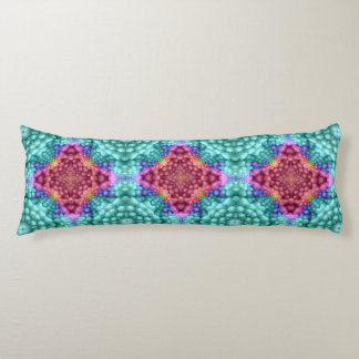 Groovy  Blue Kaleidoscope Pattern Body Pillow ボディピロー