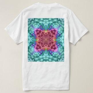 Groovy Blue Vintage Kaleidoscope  Shirts  Back Tシャツ