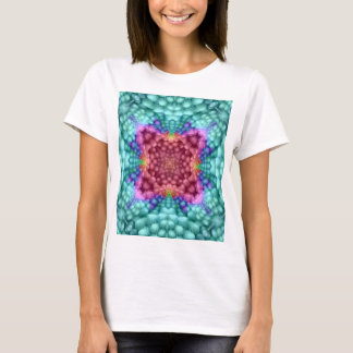 Groovy Blue Vintage  Womens Front And Back Tシャツ