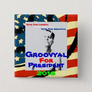 Groovyal 2016年のための投票 5.1cm 正方形バッジ