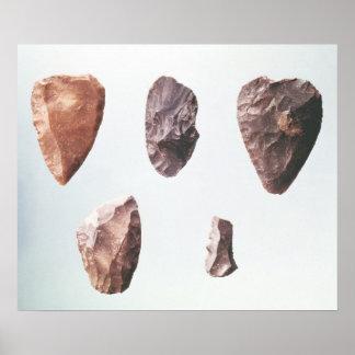 Grotte deからの有史以前の石器、 ポスター