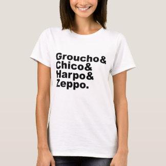 Groucho及びチコ及びHarpo及びZeppo Tシャツ