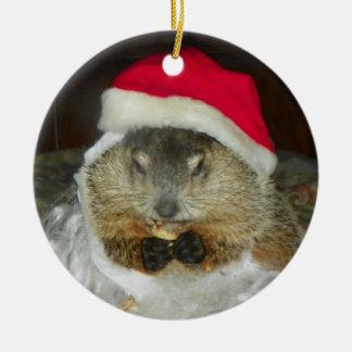 Groundhogかウッドチャックのクララのオーナメント セラミックオーナメント