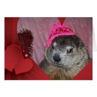 Groundhogのクララのバレンタインデーカード カード