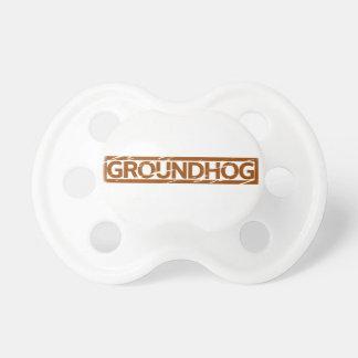 Groundhogのスタンプ おしゃぶり