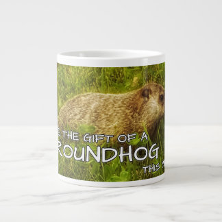Groundhogのマグのギフトを今年与えて下さい ジャンボコーヒーマグカップ