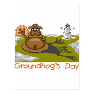 Groundhogの日 ポストカード